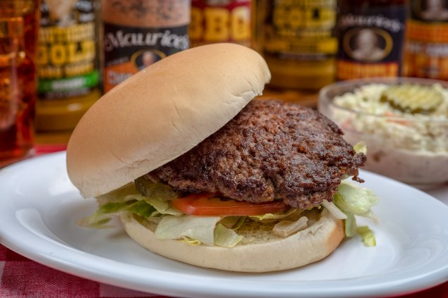 Grilled Burgers w/ Condiments